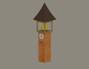 Clock Tower 3D model low-poly