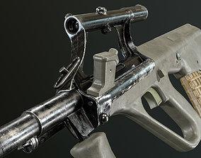 3D model rigged Steyr AUG A1 Assault Rifle
