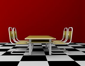 Office Chair and Table 3D model