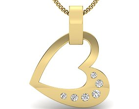 Diamond Pendant beauty gold 3D print model