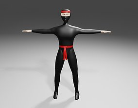 3D model Ninja - Fighter - Kung Fu