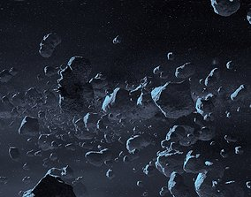 3D asset Asteroid geo pack 14 pieces