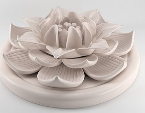 Lotus Flower figurine 3D print model