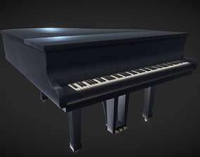 3D model VR / AR ready PBR Grand Piano