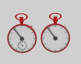 3D asset Stopwatch Cartoon