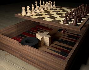 3D model 4 X1 board games
