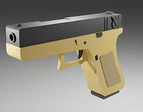 3D asset Modular Glock - 18 Low Poly