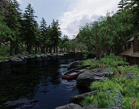 Valley Scene 3D model