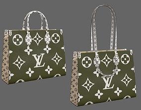 3D asset Louis Vuitton Bag Onthego Giant Monogram Khaki