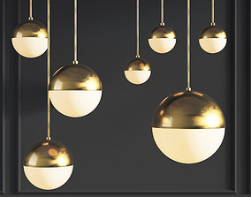 Suspension light Copper Light Pendant 3D model