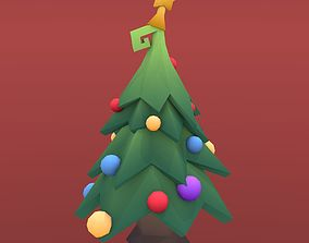 3D model Low Poly Tree - Christmas tree