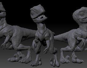 3D printable model baby raptor