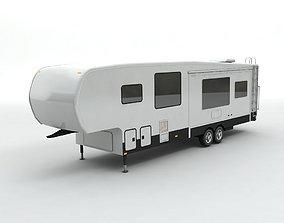 Fifth Wheel Travel Trailer Toy Hauler 2-Axle 3D model