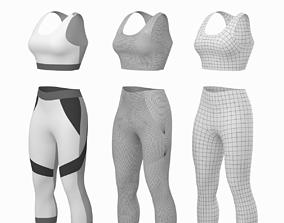3D Woman Sportswear 05 Base Mesh Design Kit