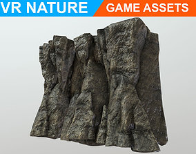 Low poly Realistic Cave Wall A2 180611 3D model