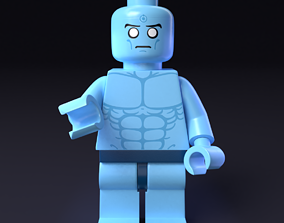 3D LEGO minifigure - Dr Manhattan - Watchmen