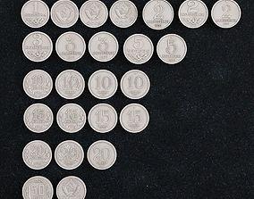 Coin Russian kopeck 3D printable model