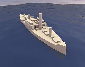 Ironclad Admiral Tamandare 3D printable model