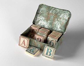 Vintage Scrabble Box 3D model