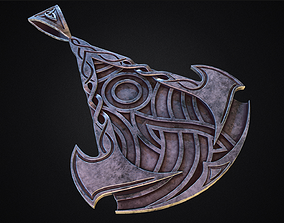 Assassins Creed Valhalla symbol Pendant - Necklace 3d