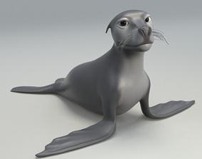 3D asset cartoon sea lion