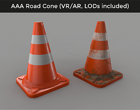 game-ready Traffic Road Cone - 3D VR AR game