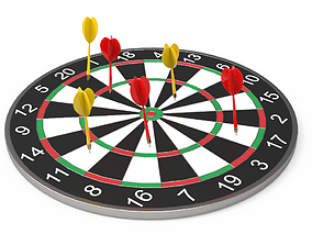 3D model DartBoard - Realistic