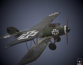 Albatros DIII German world war 1 plane 3D asset