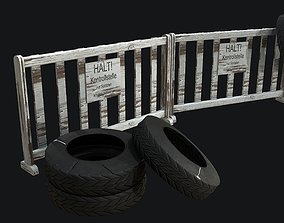 3D asset WW2 Checkpoint PBR