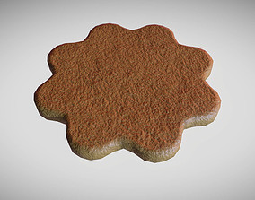 3D model Gingerbread low poly high poly and printable