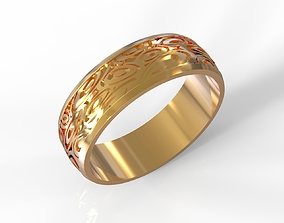 3D print model Ring with oval pattern