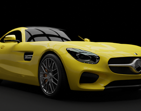 3D rigged Mercedes AMG GT