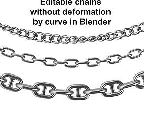 link 3D model Editable Chains