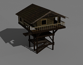 Forest Watch Tower 3D asset realtime