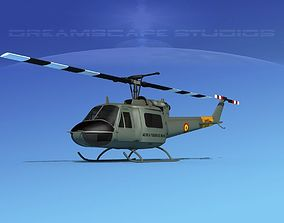 Bell UH-1B Iroquois Bolivian Army 3D