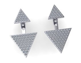 3D print model Earrings triangular