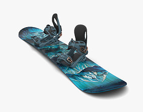 Snowboard 3D model snow