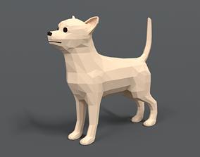 3D model Low Poly Cartoon Chihuahua Dog