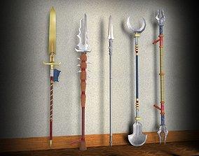 3D asset Diablo spear pack