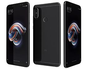 3D Xiaomi Redmi Note 5 Black