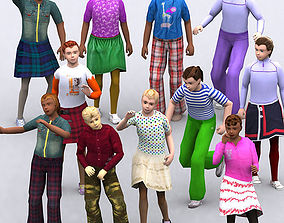 3DRT - Realpeople Kids Girls animated