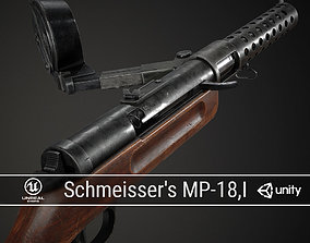 PBR German Schmeissers MP 18 I 3D model