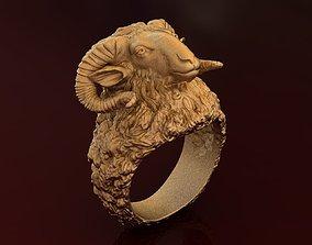 3D printable model Luxury Gold Horn Ram Ring
