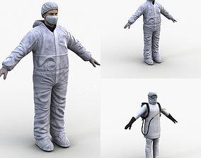 3D model Protective Suit Man Pack