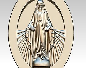 Virgen Milagrosa Miraculous Medal 3D print model