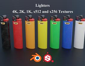 Lighters Branded PBR 3D asset