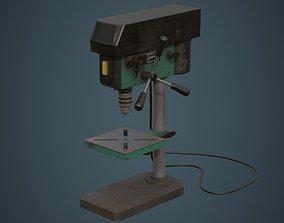 Drill Press 2B 3D asset