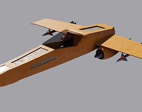 game-ready Spaceship 3D model Low-poly