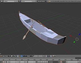 Venice gondola boat 3D model