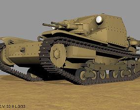 Carro veloce CV 33 II L 3 33 tankette 3D